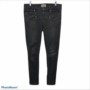 PAIGE JEANS Gray Indio ZIP Skinny Jeans